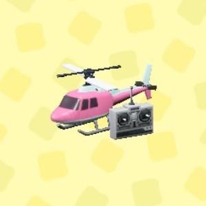 ラジコンヘリコプターピンク