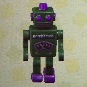 ブリキのロボットグリーン