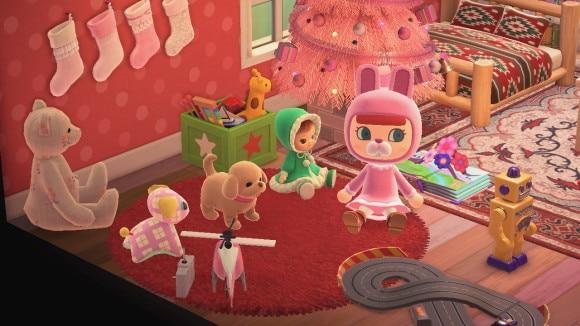 おもちゃに囲まれた部屋