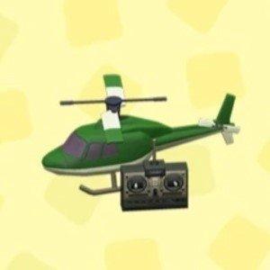 ラジコンヘリコプターグリーン