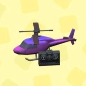 ラジコンヘリコプターパープル