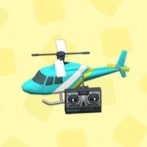 ラジコンヘリコプターライトブルー