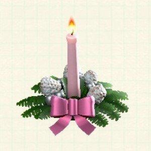 クリスマスキャンドルピンク