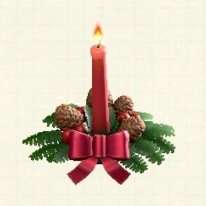 クリスマスキャンドルレッド