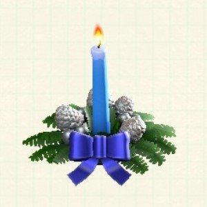 クリスマスキャンドルブルー