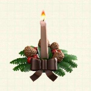 クリスマスキャンドルブラウン