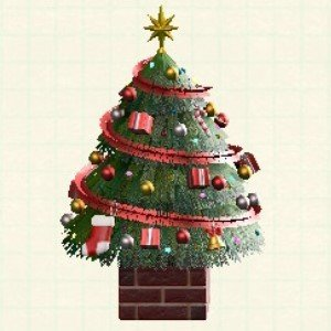 おおきなクリスマスツリーレッド