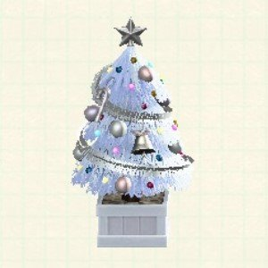 かわいいクリスマスツリーホワイト
