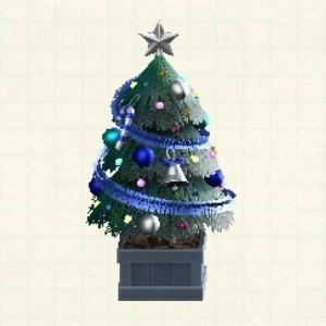 かわいいクリスマスツリーブルー
