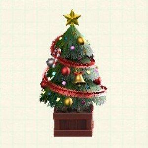 かわいいクリスマスツリーレッド