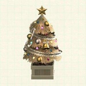 かわいいクリスマスツリーゴールド
