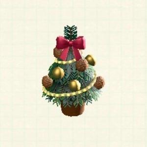 テーブルクリスマスツリーカラフル