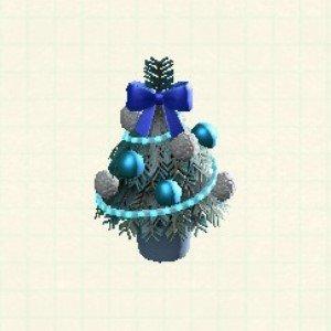 テーブルクリスマスツリーブルー