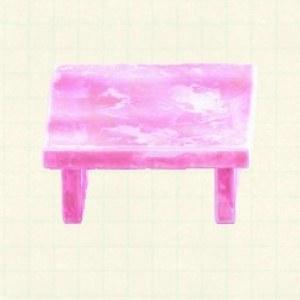 こおりのテーブルアイスピンク