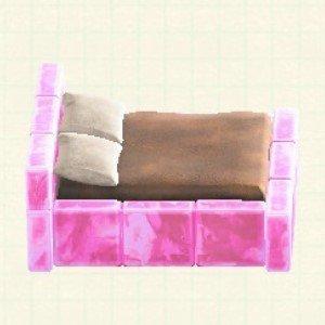 こおりのベッドアイスピンク