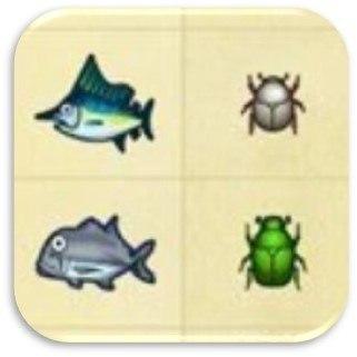 魚・虫所持率アイコン