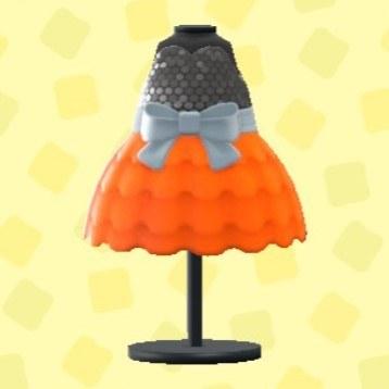 バブルドレスのオレンジ