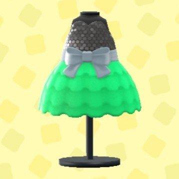 バブルドレスのグリーン