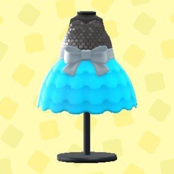 バブルドレスのライトブルー