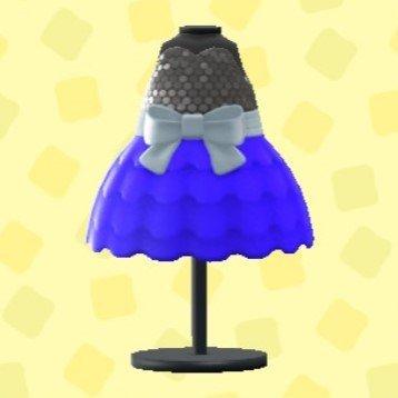 バブルドレスのブルー