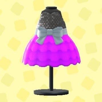 バブルドレスのパープル