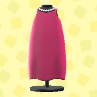 スリップドレスのレッド