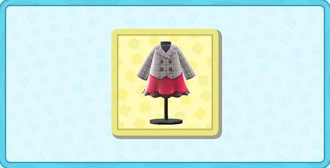 スカートつきピーコートの値段と入手方法
