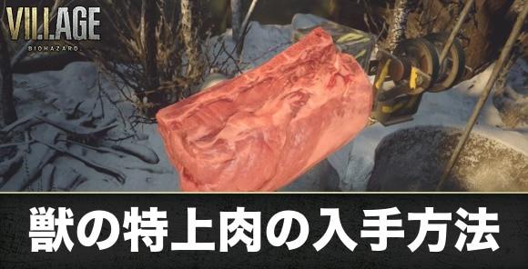 獣の特上肉の入手方法