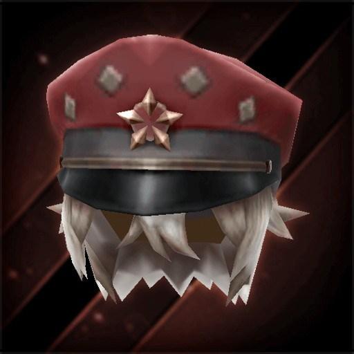 星印書生帽子・真紅