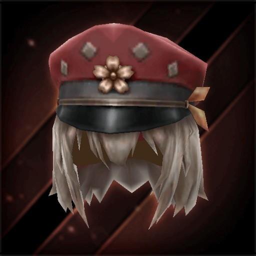 桜印女学生帽子・真紅