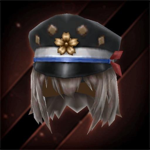 桜印女学生帽子・漆黒