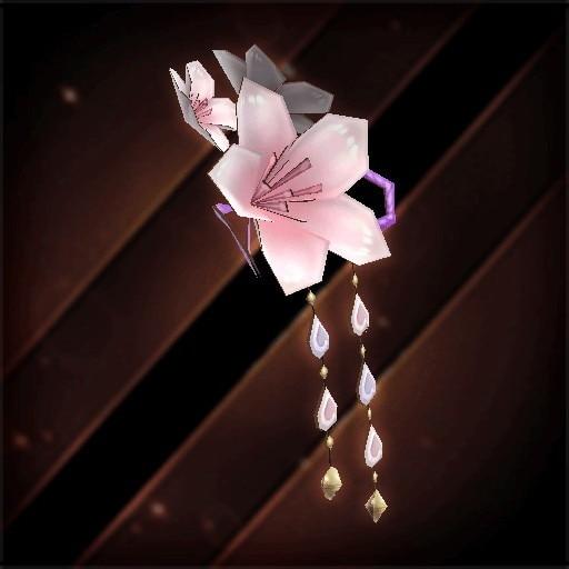 桜の花飾り・紅花