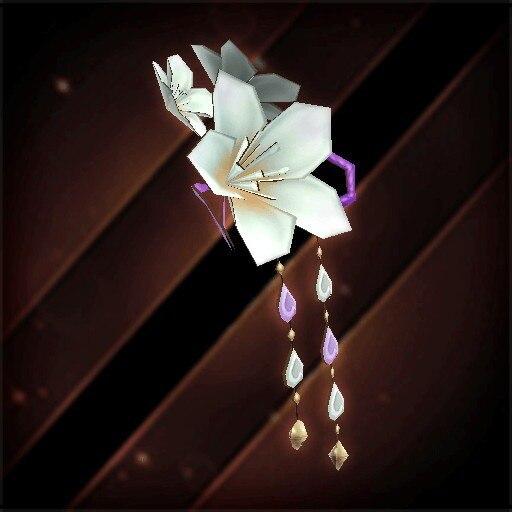 桜の花飾り・白花