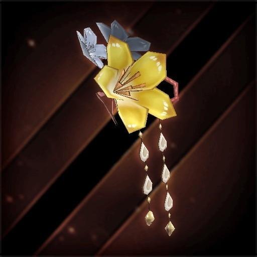 桜の花飾り・黄花