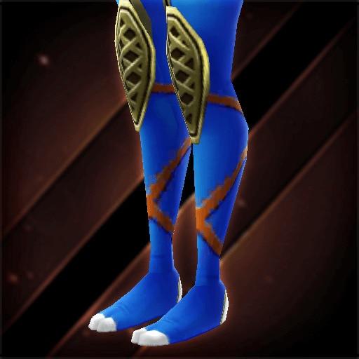 藍染くノ一脚絆