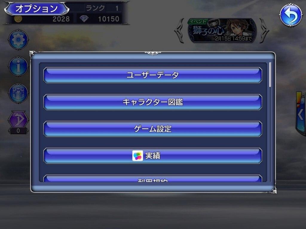 FFOOオプション画面