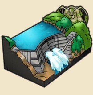 大きなダムの置物