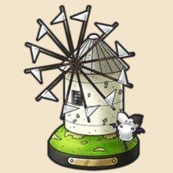 真っ白な風車の置物