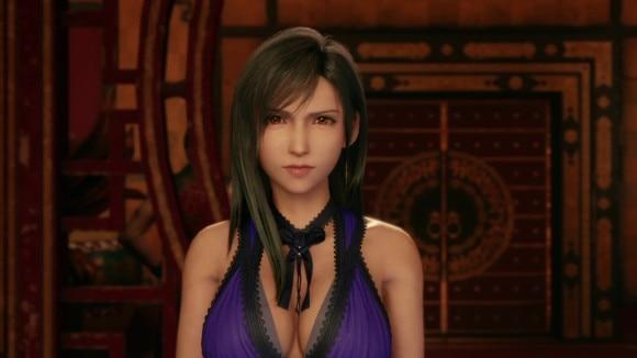 ティファ紫ドレス