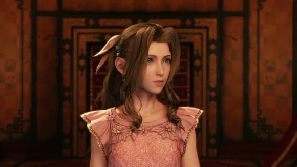 エアリス薄ピンクドレス