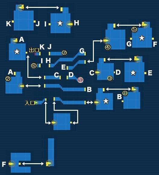 ルーンフェリア城マップ