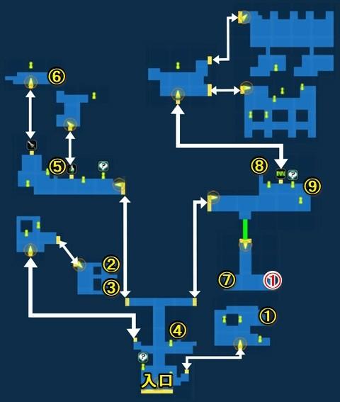 イルテアの町宝箱マップ