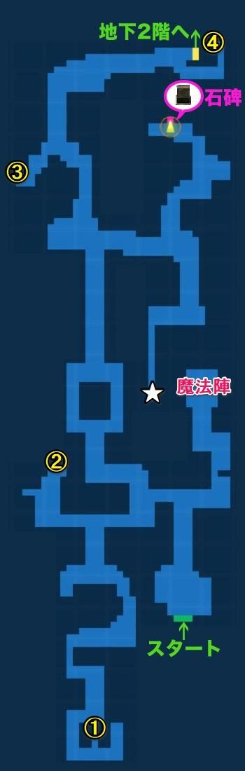 古代遺跡1階宝箱マップ