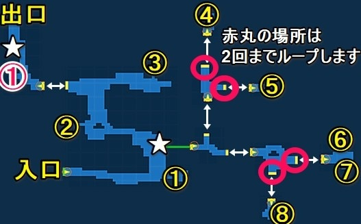 寂滅の森宝箱探索マップ