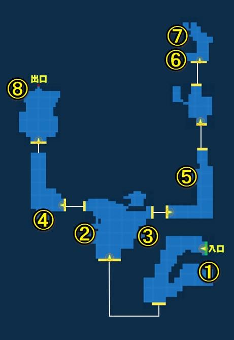 ケスティーノ鉱山宝箱マップ