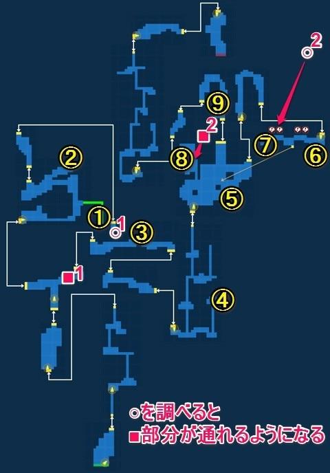 ガイアの絶壁マップ