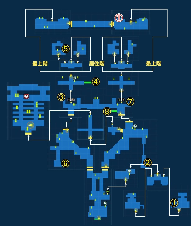 修羅の都ヴィセクトラム宝箱マップ