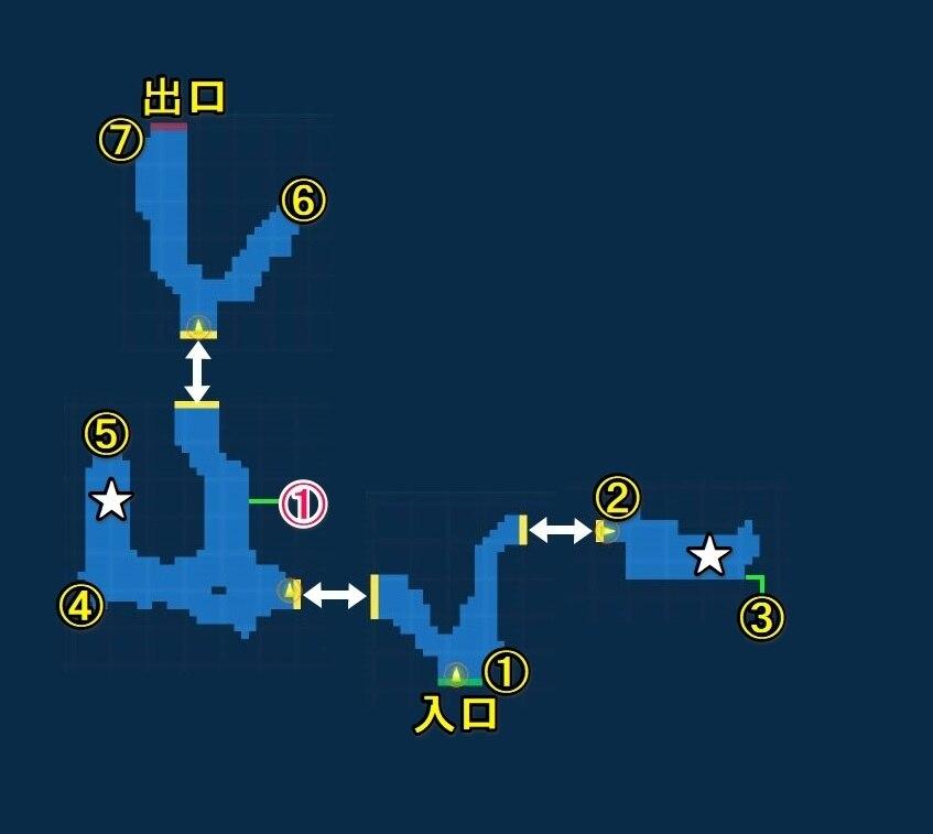 レザル山麓・探索マップ