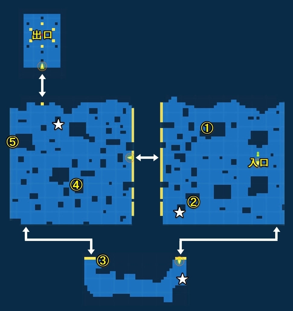 修羅道の宝箱マップ