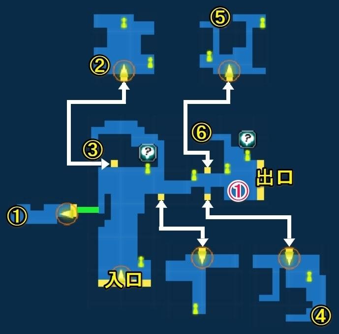 ハバルの村宝箱マップ